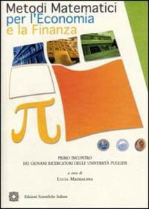Metodi matematici per l'economia e la finanza - copertina