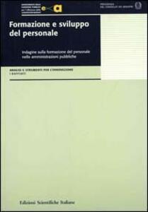 Formazione e sviluppo del personale. Indagini sulla formazione del personale nelle amministrazioni pubbliche - copertina