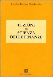 Libro Lezioni di scienza delle finanze Emmanuele Emanuele
