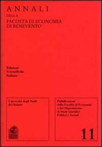 Annali della Facoltà di economia di Benevento. Vol. 11 - copertina