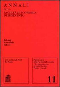 Libro Annali della Facoltà di economia di Benevento. Vol. 11