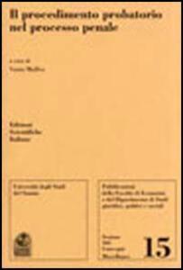 Il procedimento probatorio nel processo penale. Atti del Convegno - copertina