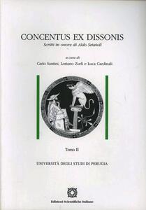 Concentus ex dissonis - copertina