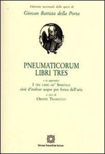 Pneumaticorum libri tres - copertina
