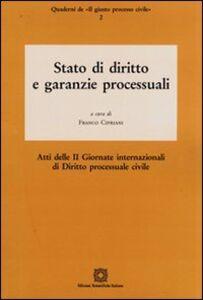 Foto Cover di Stato di diritto e garanzie processuali, Libro di  edito da Edizioni Scientifiche Italiane