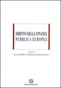 Diritto della finanza pubblica europea - copertina