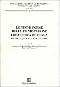 Le nuove forme della pianificazione urbanistica in Puglia - copertina