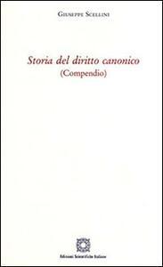 Storia del diritto canonico - Giuseppe Scellini - copertina