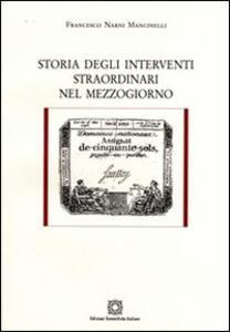 Storia degli interventi straordinari nel Mezzogiorno - Francesco Narni Mancinelli - copertina