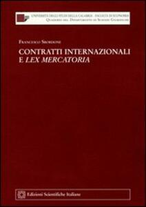 Contratti internazionali e lex mercatoria - Francesco Sbordone - copertina