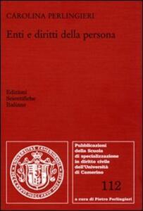 Enti e diritti della persona - Carolina Perlingieri - copertina