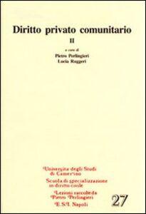 Libro Diritto privato communitario