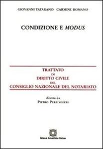 Condizione e modus - Giovanni Tatarano,Carmine Romano - copertina
