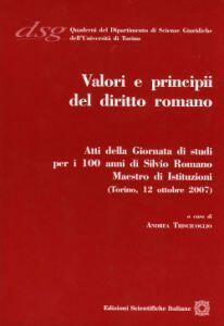 Valori e principi del diritto romano