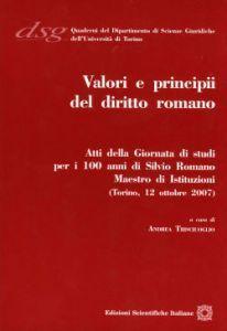 Libro Valori e principi del diritto romano