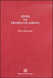 Studi per Franco Di Sabato. Diritto dell'economia-Impresa e procedure concorsuali-Societa