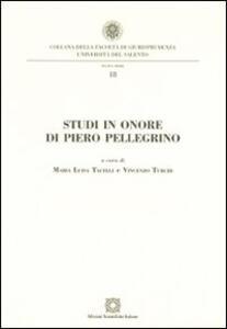 Studi in onore di Piero Pellegrino - copertina