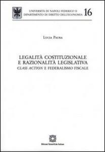 Legalità costituzionale e razionalità legislativa - Lucia Paura - copertina