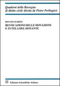 Revocazioni delle donazioni e tutela del donante - Renato Marini - copertina