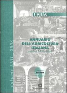 Annuario dell'agricoltura italiana 2008. Con CD-ROM - copertina