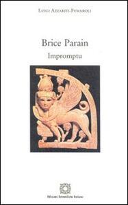 Brice Parain. Impromptu - Luigi Azzariti Fumaroli - copertina