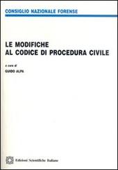 Le modifiche al codice di procedura civile