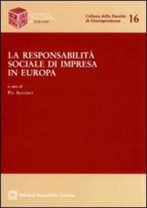 La responsabilità sociale di impresa in Europa - copertina