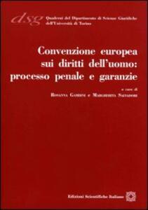 Convenzione europea sui diritti dell'uomo. Processo penale e garanzie - copertina