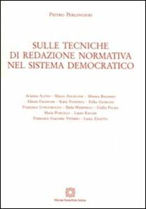 Sulle tecniche di redazione normativa nel sistema democratico - Pietro Perlingieri - copertina