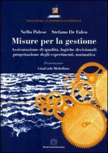 Misure per la gestione - Nello Polese,Stefano De Falco - copertina