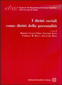 I diritti sociali come diritti della personalità