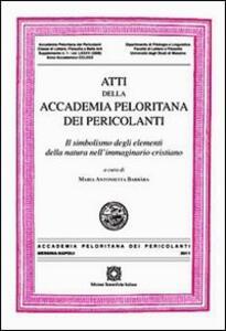 Atti della Accademia Peloritana dei Pericolanti - copertina