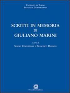 Scritti in memoria di Giuliano Marini - copertina