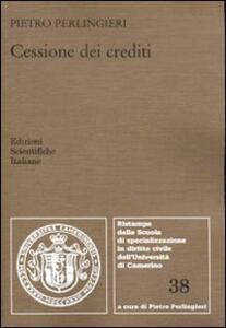 Cessione dei crediti - Pietro Perlingieri - copertina