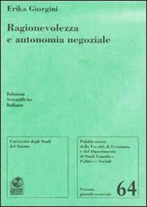 Ragionevolezza e autonomia negoziale