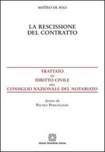 La rescissione del contratto - Matteo De Poli - copertina