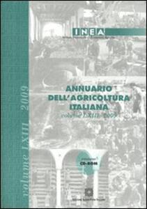 Annuario dell'agricoltura italiana 2009. Con CD-ROM - copertina