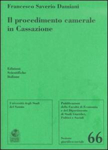 Il procedimento camerale in Cassazione - Francesco S. Damiani - copertina