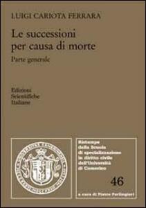 Le successioni per causa di morte - Luigi Cariota Ferrara - copertina