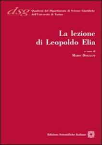 La lezione di Leopoldo Elia