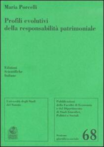 Profili evolutivi della responsabilità patrimoniale - Maria Porcelli - copertina