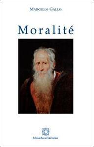 Moralité - Marcello Gallo - copertina