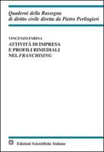 Libro Attività di impresa e profili rimediali nel franchising Vincenzo Farina