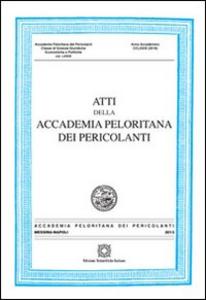 Libro Atti della Accademia Peloritana dei pericolanti