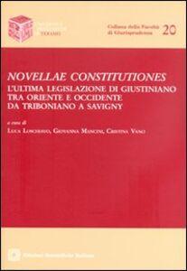 Libro Novellae constitutiones