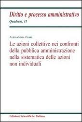 Le azioni collettive nei confronti della pubblica amministrazione nella sistematica delle azioni non individuali