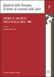 Sport e società nell'Italia del '900