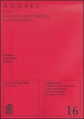 Annali della Facoltà di economia di Benevento. Vol. 16