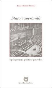Libro Stato e sovranità Adolfo S. Spadoni