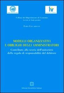 Libro Modelli organizzativi e obblighi degli amministratori Fabio Ciccariello